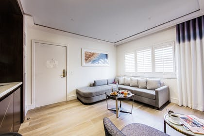 Living area | One Bedroom Suite | Mosaic Hotel - Beverly Hills
