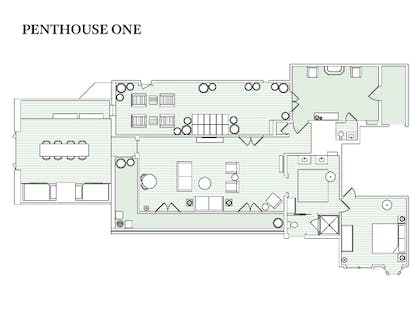 Floorplan | Penthouse One | Palihouse Santa Monica