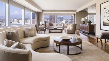 Living room | The Ritz-Carlton Suite | The Ritz-Carlton, Los Angeles