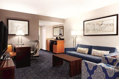 Two Doubles Accessible Living Area | 2 Room Suite-1 King Bed-Non-smoking + 2 Room Suite-2 Double Beds-Non-smoking-ADA Accessible | Embassy Suites by Hilton Louisville East