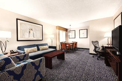 King Suite Living Area | 2 Room Suite-1 King Bed-Non-smoking + 2 Room Suite-2 Double Beds-Non-smoking-ADA Accessible | Embassy Suites by Hilton Louisville East
