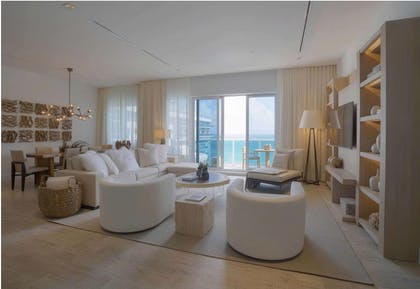 Living area | Four Bedroom Ocean Front Penthouse with Balcony | 1 Hotel South Beach