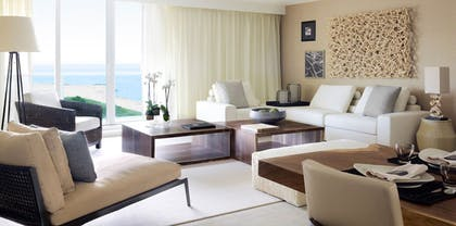 Living Room | Two Bedroom Home Ocean View with Balcony | 1 Hotel South Beach