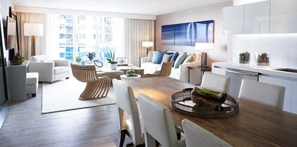 Dining Room | Two Bedroom Home Skyline View with Balcony | 1 Hotel South Beach