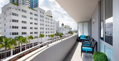 Balcony | Deluxe One-Bedroom Suite | Boulan South Beach