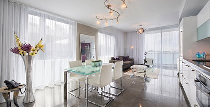 Living Room | Deluxe One-Bedroom Suite | Boulan South Beach