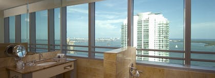 Bathroom | Bay View 1 Bedroom Condo with 1 King Bed | Conrad Miami