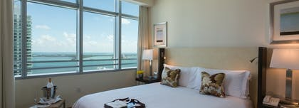 Bedroom | Bay View 1 Bedroom Condo with 1 King Bed | Conrad Miami