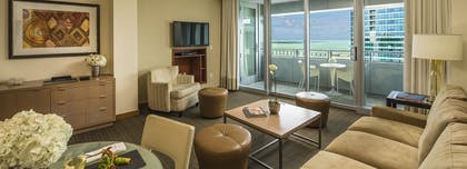 Living Room | Bay View 1 Bedroom Condo with 1 King Bed | Conrad Miami