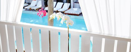 Balcony | Poolside Duplex Bungalow | Delano South Beach