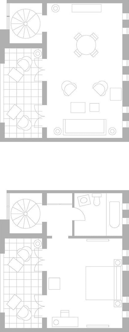 Floor Plan | Poolside Duplex Bungalow | Delano South Beach
