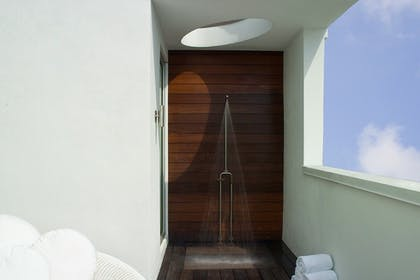 Outdoor Shower | Platinum Sun Suite King | Dream South Beach