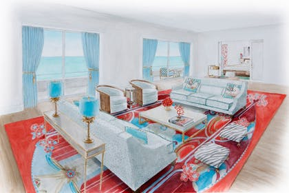 Living Room | Saxony Suite | Faena Hotel Miami Beach