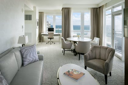 Living Room | Executive One Bedroom Suite with Balcony | Fontainebleau Miami Beach