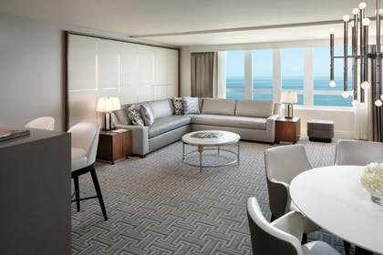 Living Room | Grand One Bedroom Suite with Balcony | Fontainebleau Miami Beach