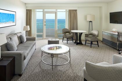 Living Room | Oceanfront One Bedroom Suite with Balcony | Fontainebleau Miami Beach