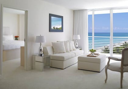 Living Room | 1 Bedroom Ocean View Suite | Grand Beach Hotel Miami
