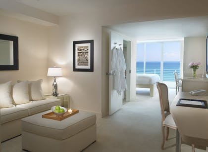 Living. | King Bay View Suite | Grand Beach Hotel Miami