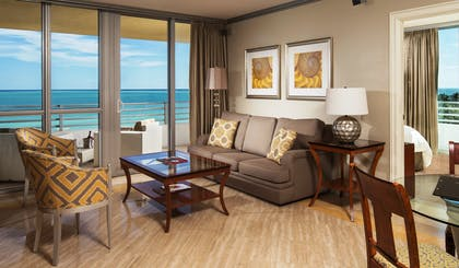 Living Room | Two Bedroom Suite Oceanfront | Hilton Bentley Miami/South Beach