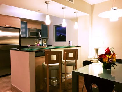 Kitchen | Deluxe One Bedroom Bayfront Suite | Marenas Beach Resort