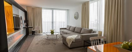 Living Room | Deluxe Bay-View One Bedroom Suite With Balcony | Mondrian South Beach