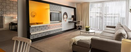 Living Room | One Bedroom Suite With Balcony Double Double | Mondrian South Beach
