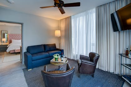 Living Area | One Bedroom Terrace Suite | Plymouth Hotel Miami