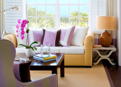 Living Room | Royal Suite Ocean View King + Deluxe Ocean View Double | The Betsy - South Beach