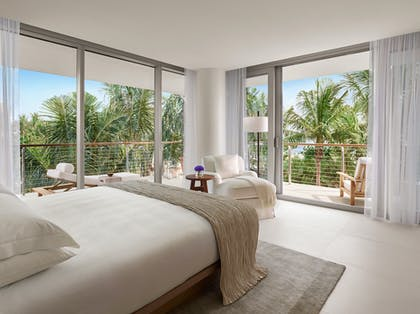 Bedroom and View | Bungalow Pool View Suite | The Miami Beach EDITION