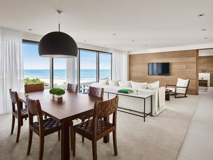 Living room | Deluxe Ocean View Suite + Oceanview King | The Miami Beach EDITION