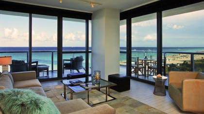 Living Room | Cool Corner Suite | W South Beach