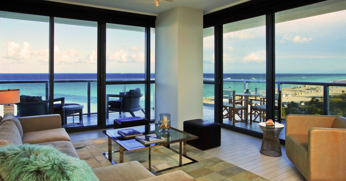 Cool corner suite at w south beach suiteness stay - 2 bedroom hotel suites in miami south beach ...