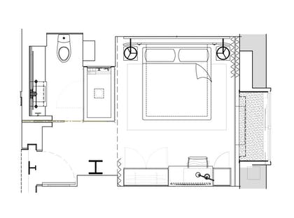 Floorplan | Alcove Jr. Suite | 1 Hotel Central Park