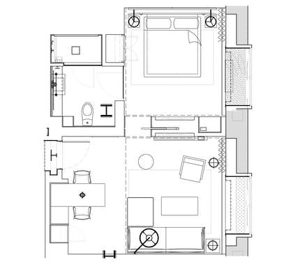 Floorplan | City Suite | 1 Hotel Central Park