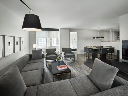 Living room | Two Bedroom Penthouse Suite | AKA Central Park