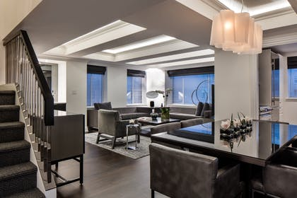 Living room | Two Bedroom Duplex Penthouse Suite | AKA Sutton Place
