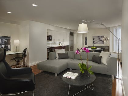 Living room | One Bedroom Suite with Den | AKA Times Square