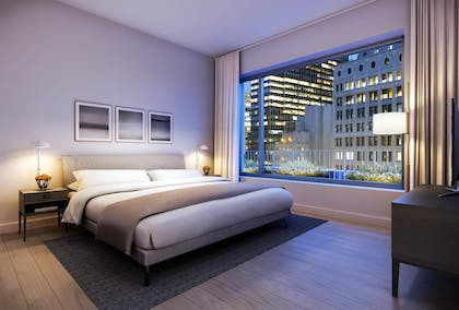 Bedroom | Two Bedroom Penthouse Suite with Terrace | AKA Wall Street