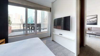 Bedroom and Balcony area | 5th Avenue Terrace Suite | Andaz 5th Avenue