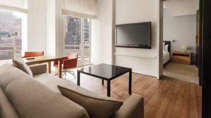 Living Room | One Bedroom Balcony Suite | Andaz 5th Avenue