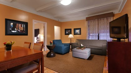 Living Room | Two Bedroom Apartment Suite | King & Queen | Best Western Plus Hospitality House