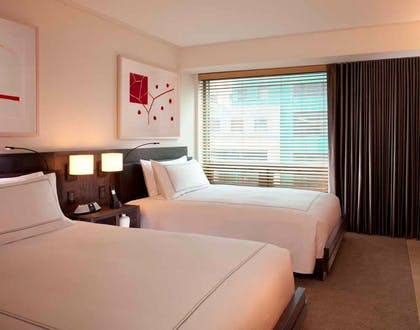 Bedroom | Deluxe Suite with Two Double Beds | Conrad New York