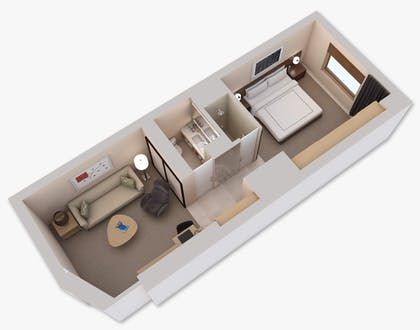 Floorplan | Deluxe Suite with Two Double Beds | Conrad New York