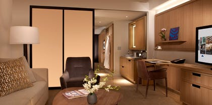 Living room | Deluxe Suite with Two Double Beds | Conrad New York