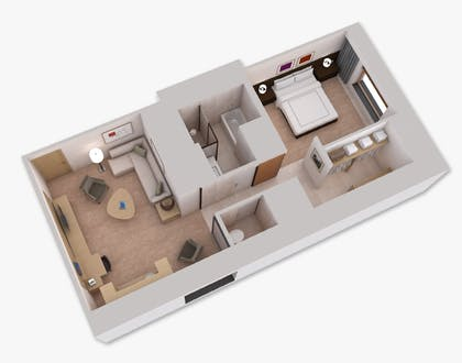 Floorplan | Executive Suite with One King Bed | Conrad New York