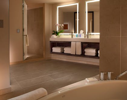 Bathroom | Luxury Corner Suite with One King Bed | Conrad New York