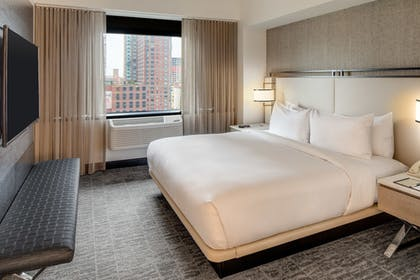 1 King Bed Junior Suite w/ Sofabed at DoubleTree by Hilton Hotel & Suites Jersey City ...