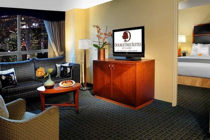 livingroom.jpg | 1 Kg Bed Prem Suite-Liv Rm Sofa Bed-City Vw | DoubleTree Suites by Hilton New York City - Times Square