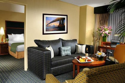 living.jpg | 1 King Corner Suite w/Sofa Bed-Non Smoking | DoubleTree Suites by Hilton New York City - Times Square