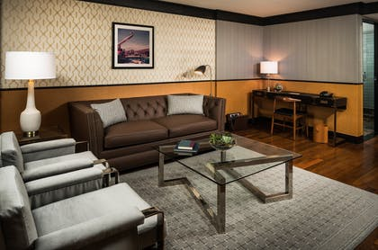 Living room | King Suite | Gild Hall, a Thompson Hotel